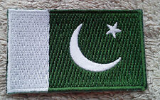 PAKISTAN FLAG PATCH Embroidered Badge Iron or Sew on 3.8cm x 6cm  پاكستان NEW