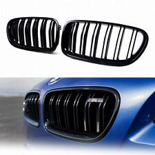 for BMW 5-Series F10 F11 Painted Glossy Black Front Grille Grill Kidney 2016 M5