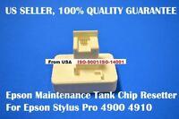 Epson stylus pro 4900 4910 Ink Maintenance Tank chip resetter reset waste pp