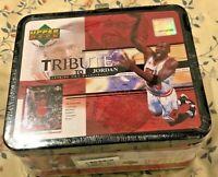 98/99 Michael Jordan Tribute Upper Deck Lunch Box w/ 30 Card Set New Sealed