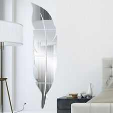 Fashion Silver Removable Mirrored Wall Stickers Decal Vinyl Art Home Room Decor