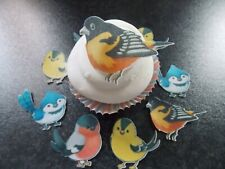 12 Edible wafer Paper Birds for cake/cupcake toppers