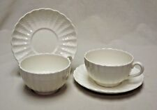 Copeland Spode England Set of 2 Chelsea Wicker Footed Tea Cups and Saucers
