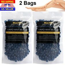 2Bags No Strip Depilatory Hot Film Hard Wax Beads Waxing Hair Removal Beans 200g