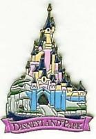 Disney Pin 22760 DLRP Disneyland Park Castle Pink Version Paris Bright Pink