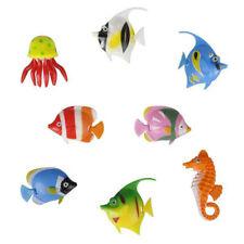 8X Children's Novelty Plastic Aquarium Fish Jellyfish Seahorse For Bubble Lamps