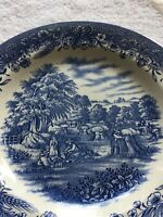 """Churchill China """"Currier and Ives"""" Harvest 10"""" Dinner Plate. England. G"""
