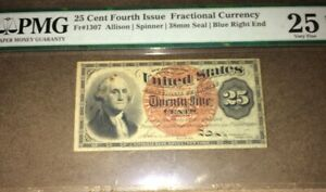 25 C Fourth Issue Fractional Currency PMG25