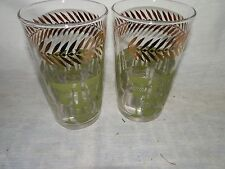Vintage, 1950's, Libby, Swanky Swigs, Green & Gold, Glasses - (2)