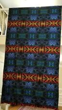 Pendleton hard to find/retired blue & multi-color wool fabric-64x122 (3.38yds)