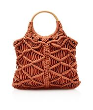 SPORTSGIRL Milly Macrame Shopper Tote Bag 047465 Rust with Tags