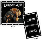 DOG DISHWASHER MAGNET (Dachshunds) - Clean/Dirty *Ship FREE