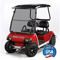 Club Car Golf Cart Tinted Fold Down Windshield Fits DS 2000 and Up