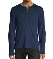 John Varvatos Star USA Men/'s Short Sleeve 3 Button Henley Shirt Pale Amthyst