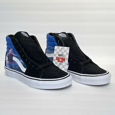 VANS x Shark Week Sk8 Hi Black Blue High Top Skate Shoes Sz M 6.5 W 8 Limited Ed
