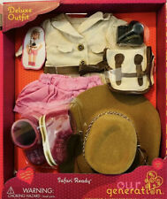 """Our Generation SAFARI READY Deluxe Outfit for 18"""" Dolls New"""