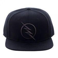 DC COMICS SOLID BLACK REVERSE FLASH ZOOM LOGO SNAPBACK HAT CAP LIGHTNING BOLT