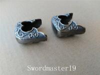 2 Antique Finished Brass Kojiri Saya Parts Japanese Katana Wakizashi Tanto Sword