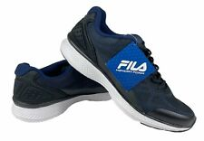 FILA Memory Startup Mens Memory Foam Running Shoes Sneakers Navy Black Size 8