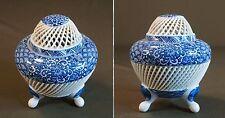 Fine Japanese Reticulated Open Work Woven Incense Burner Signed Kin Ho Gama