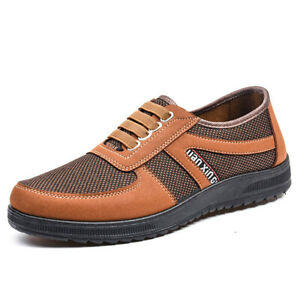 Mens Casual Breathable Lace Up Shoes Anti Slip Sports Fashion Durable Walk Shoes