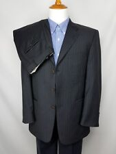 Murano Men's Charcoal Gray Pinstripe 2pc Suit Wool Three Button Size 41R