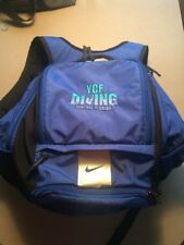 Nike SWIM Swimmers Diver Diving Backpack Blue Many Compartments Mesh Pouch