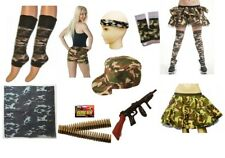 ARMY MILITARY CAMOUFLAGE FANCY DRESS COSTUME ACCESSORIES MEN LADIES HEN STAG.