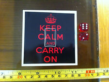 Keep Calm and Carry On Pinky Black Home Decor Light Switch Sticker Cover