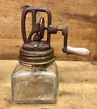 No. 5 DAZEY Churn Glass Butter Churn with Wood Paddle
