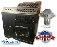 CORN STOVE - Adjustable BTU Up to 72,000 BTU's - Direct Vent - with Vent Pipe