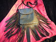 Supre Tassle Shoulder Bag - Hobo/Gypsy/Hippie/Satchel - Black - BNIP
