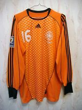 MATCH WORN Denmark 2009 ANDERSEN Adidas Goalkeeper Shirt Jersey Kit vs Malta