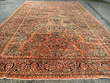 """Antique Persian Sarouk Mohajeran Rug 12X18'5"""" Cir 1900"""