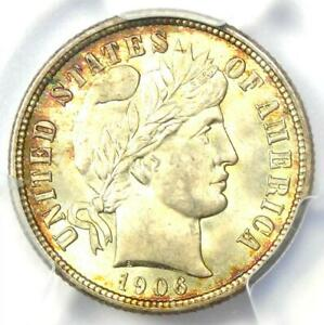 1906 Barber Dime 10C Coin - Certified PCGS MS66 (Gem BU) - $850 Value!