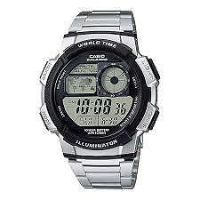 CASIO AE-1000WD-1A SILVER STAINLESS STEEL WATCH FOR MEN - COD + FREE SHIPPING