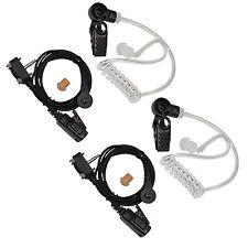 2x HQRP Acoustic Tube Earpiece Headset for Vertex Standard VX-231 VX-298 VX-300