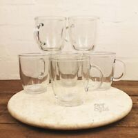 Set Of 6 350ml Glass Tea Coffee Latte Cappuccino Hot Drinks Transparent Cups New