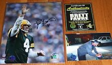 GREEN BAY PACKERS BRETT FAVRE 4 AUTOGRAPHED SIGNED Waving 8x10 NFL PHOTO BFA COA