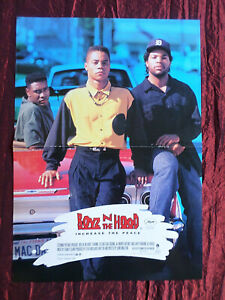 BOYZ N THE HOOD - ICE CUBE - MAGAZINE CLIPPING- ( CENTRESPREAD PICTURE ) PIN -UP