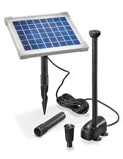 Solar Teichpumpe 5W 470l/h Solarpumpe Gartenteich Pumpenset Teich esotec 101012