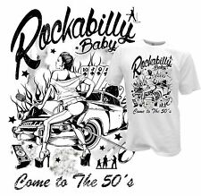 Pinup T-Shirt Rockabilly 50er Style Biker Hot Rod Retro Musik Music Poker S-XXL