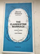 THE CLANDESTINE MARRIAGE Theatre programme RON MOODY