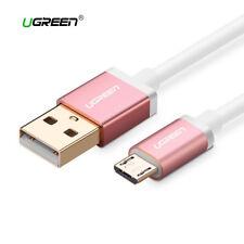 Cable Micro USB carga rapida movil y tablet UGREEN blanco rosa metalizado
