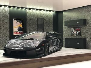 1/18 1:18 SCALE DIORAMA GARAGE DISPLAY ACRYLIC CASE W/ LED LIGHT MADE IN JAPAN ⑥