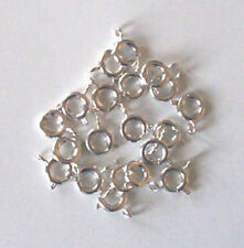 20 silver plated 7mm bolt rings, findings for jewellery making crafts