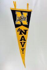"Vintage ""Go Navy"" Goat Soft Felt Pennant Collegiate Pacific College Football"