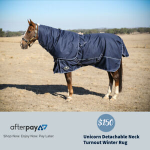 Unicorn Winter Turnout Horse Rug Detach A Neck Combo 600D 220G Fill Cotton Lined