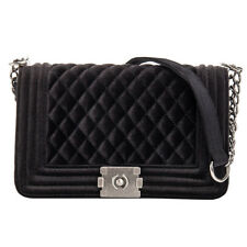 Women Celeb Chain Shoulder Strap Bag Purse Quilted Velvet Handbag Ladies Bags 04 Black