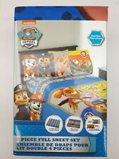 Paw Patrol 4 Piece Full Sheet Set: Kid's Bedding Set (SH27-07)